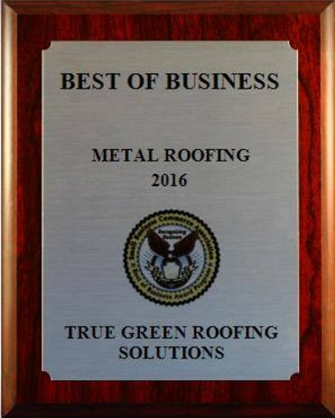 True Green Roofing Best of Business 2016