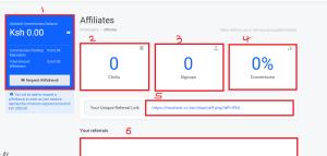 truehost affiliate program dashboard