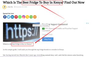 getting organic traffic to a reviews website in Kenya