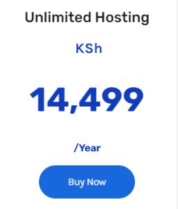 unlimited web hosting in Kenya