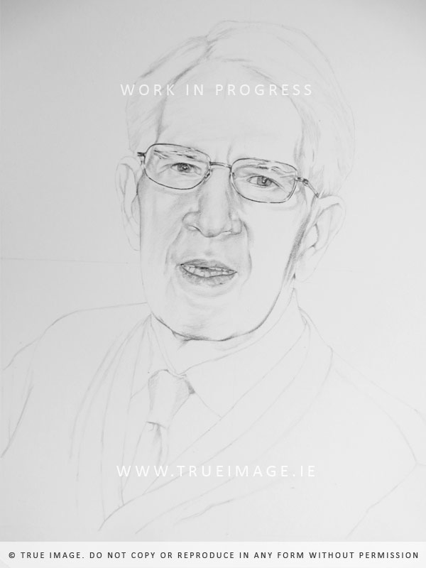 pencil family portraits - work in progress