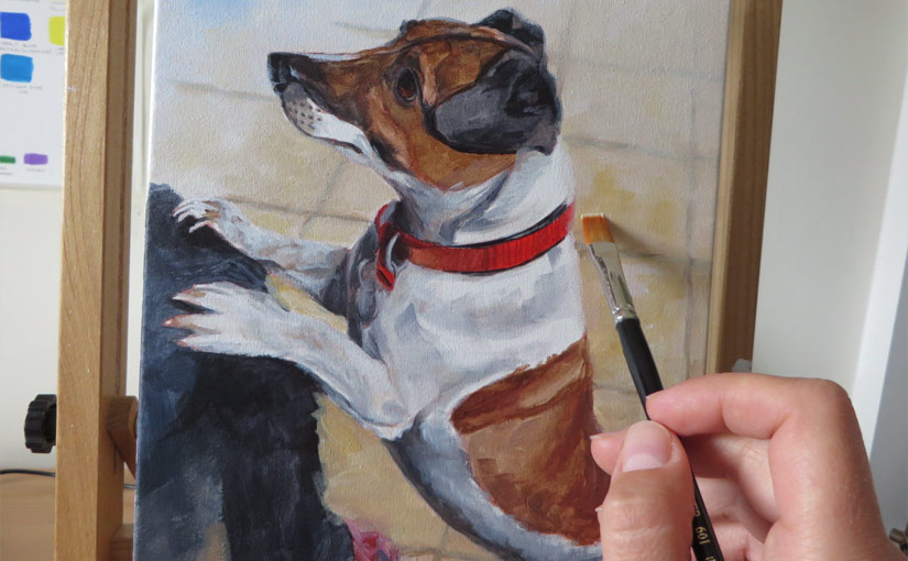 Jack Russell 'Eddie' – work in progress