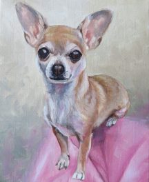 chihuahua painting in progress 3