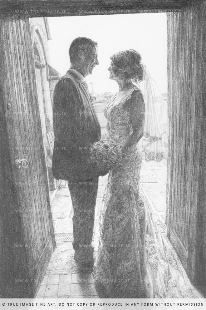 wedding portrait drawing