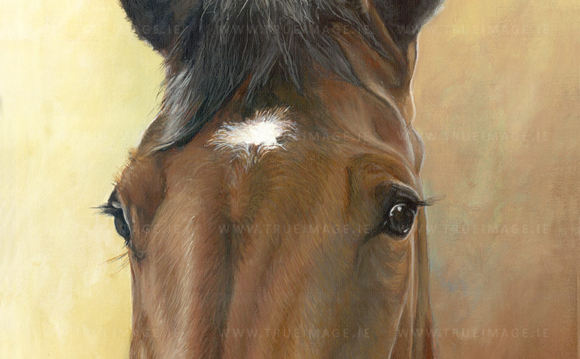 Horse painting Milly