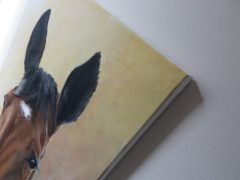 detail of a horse painting on canvas