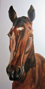 horse portrait in progress 2