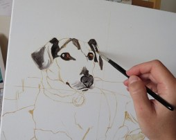 Henri's portrait in progress