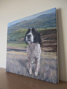 dog portrait canvas
