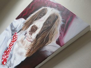 dog painting on canvas