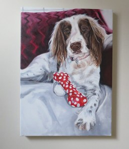 english springer spaniel painting