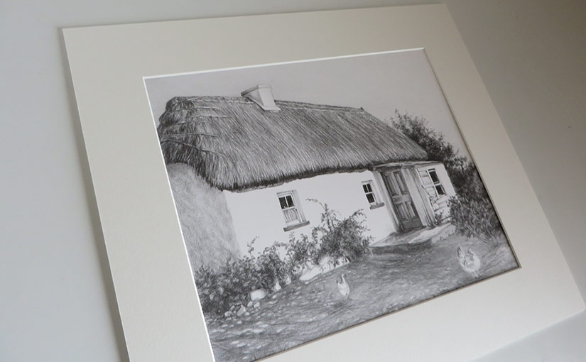 Thatched Cottage Drawing