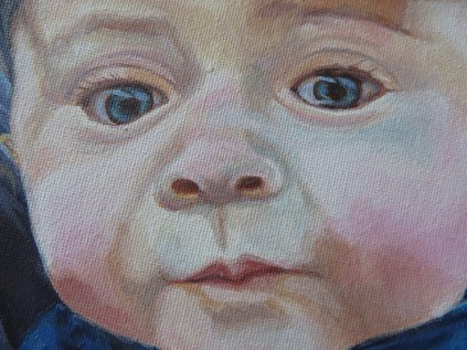 baby portrait detail