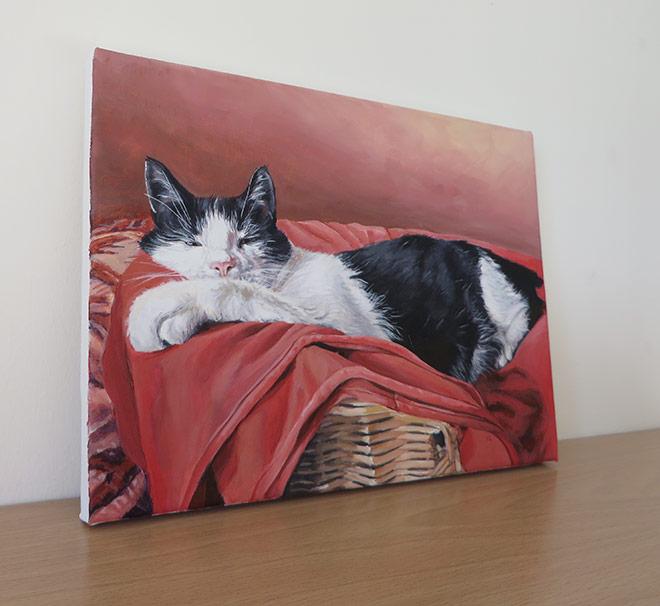 cat portrait canvas