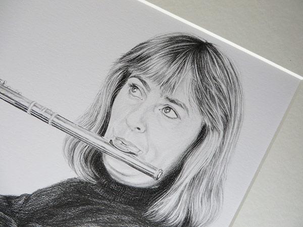 mounted drawing detail