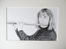 finished mounted drawing