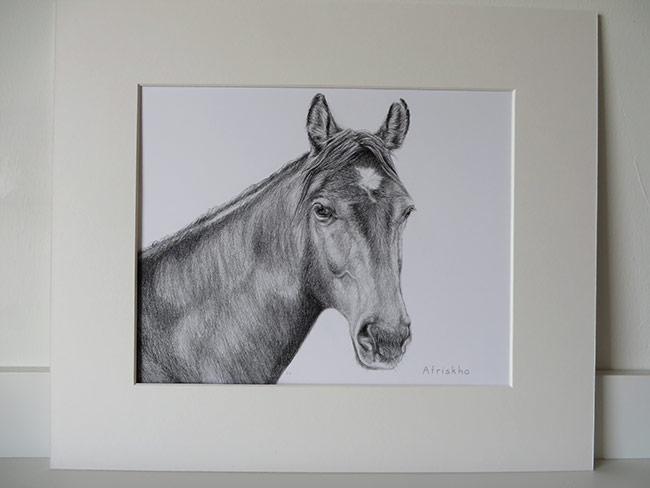 mounted drawing