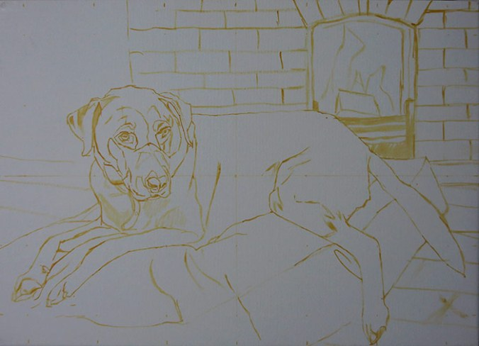 initial sketch for the portrait