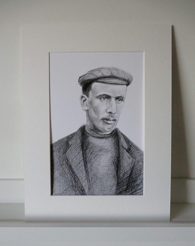 mounted portrait