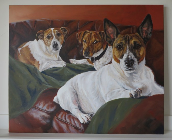 jack russell portrait painting