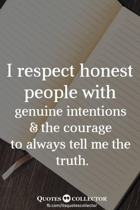 #IRespectHonesty<3