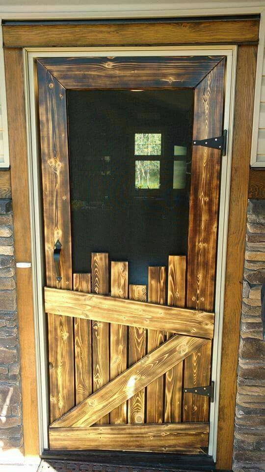 SCREEN DOOR made with PALLETS :o