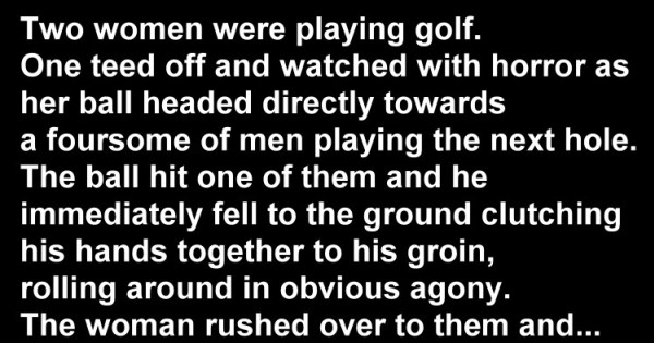 Naughty Joke: The Girl's Round of Golf Just Went Awry