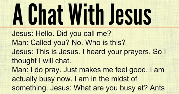 A Chat With Jesus