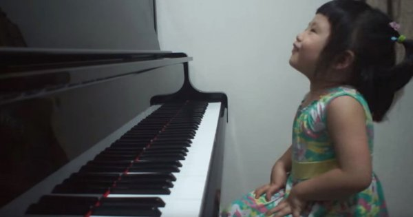 Adorable 3-Year-Old Giggles At Piano, Moments Later Blows Internet Away With Her Incredible Talent