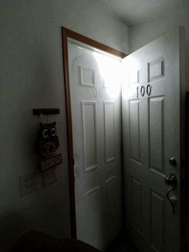 Imagine opening your front door to this! (Taken after a N. Dakota snow storm) Your thoughts? :o