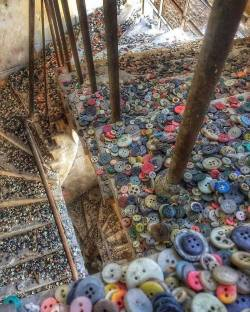 Stairwell in an abandoned button factory