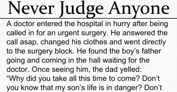 Think Before You Judge – Moral Story