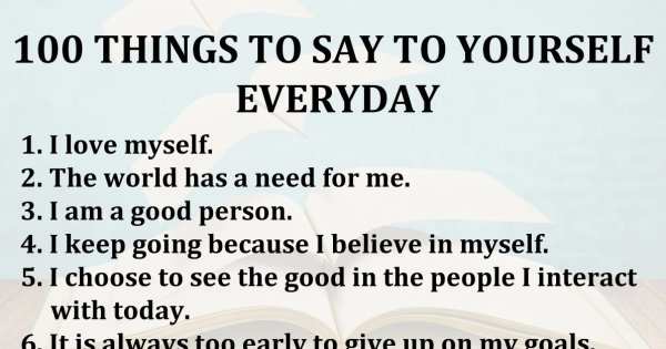 100 things to say to yourself everyday
