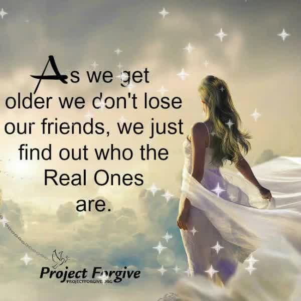 As we get older…