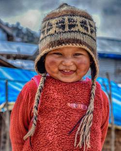 Cutest smile ever seen  Laprak, Nepal.