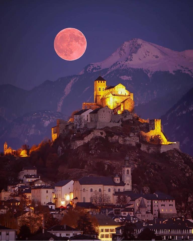 Full moon in Switzerland