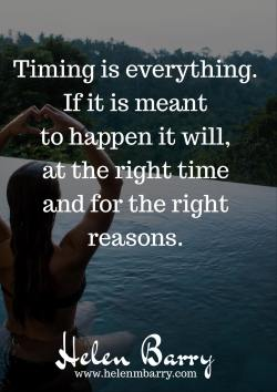 Timing is everything <3