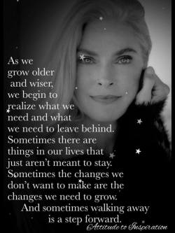 As we grow older and wiser …