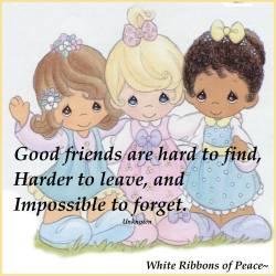 Bless our good friends ~~  #whiteribbonsofpeace