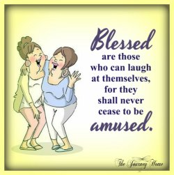 Blessed are those who can laugh at themselves on The Journey Home.