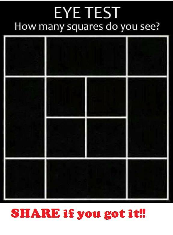 Eye test :)  How many squares do you see?
