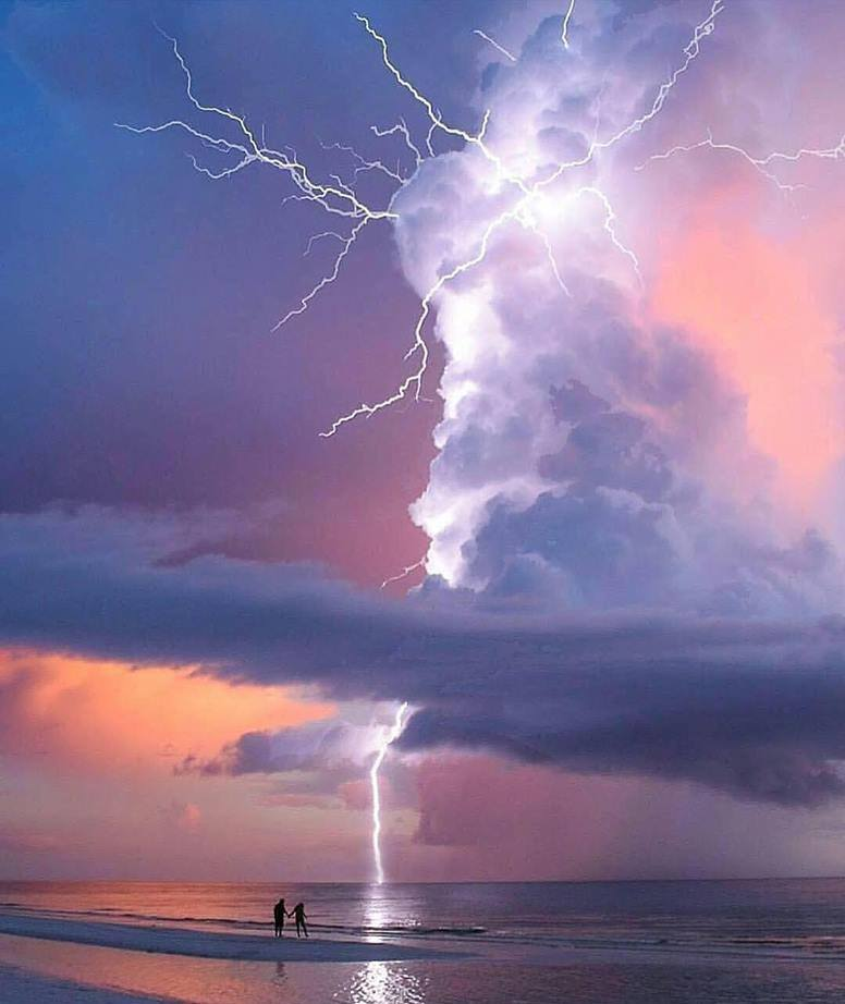 Lightning strike in Marco Island, Florida