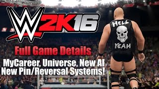 WWE 2K16 News: New Features, Modes etc! (FULL NEW DETAILS)