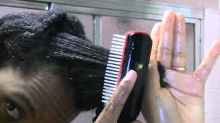 How to detangle and cleanse fine 4C hair