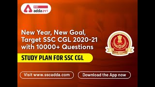 Most Comprehensive Study Plan | SSC-CGL | 10,000 Questions | Available on Adda247 App | Download Now
