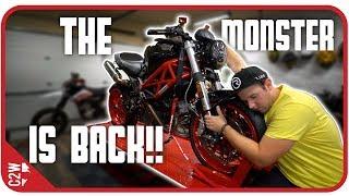The MONSTER is FINALLY BACK!! [Wrecked Bike Rebuild – Ep. 17 – Ducati Monster 1100]