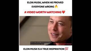 Elon Musk is a True Inspiration 100%.