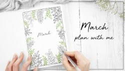 PLAN WITH ME | March 2018 Bullet Journal | w/ ChristineMyLinh, JennyJournals & NicolesJournal