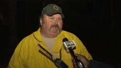 Interview with SC Forestry Commission manager Ray Cassell at Glassy Mtn. fire scene
