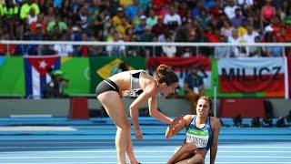 Runners Abbey D'Agostino, Nikki Hamblin Show True Meaning of Olympic Spirit | Mango News
